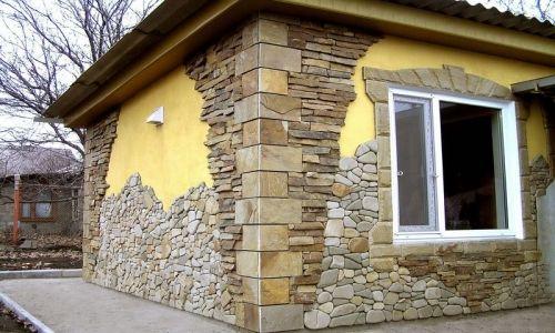 Фасад камнем
