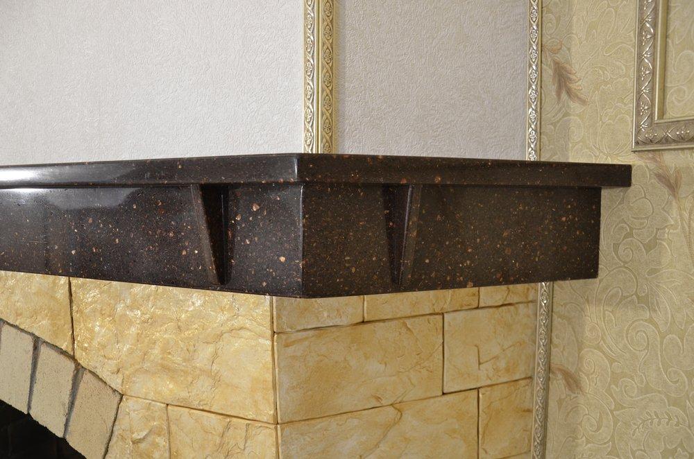 облицовка искусственным акриловым камнем