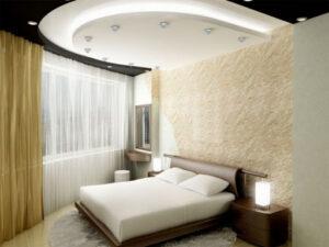 Как украсить потолки в спальне